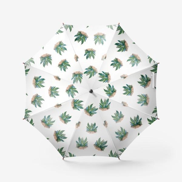 Зонт «Узор из суккулентов»