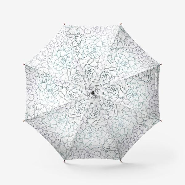 Зонт «Паттерн из сукулентов»