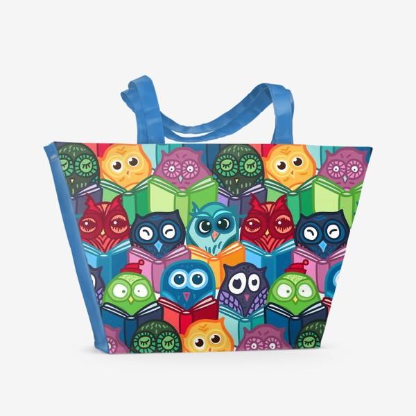 Пляжная сумка «Читающие совы»