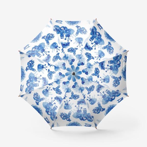 Зонт «Лето в синих тонах»