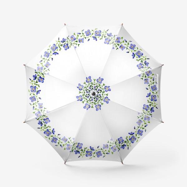 Зонт «Венок из нежных цветов»