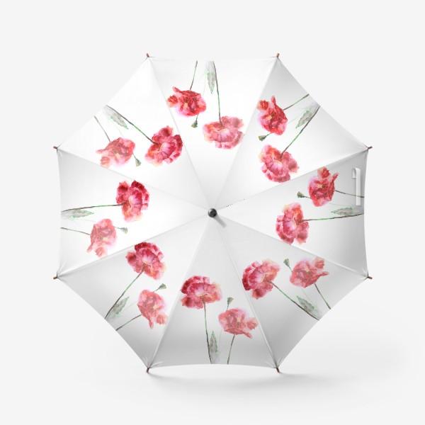 Зонт «Красные маки»