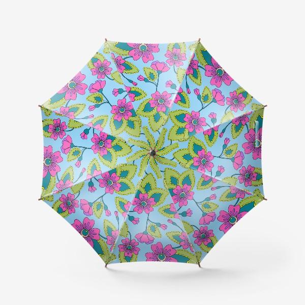 Зонт «Розовые фантазийные цветы»