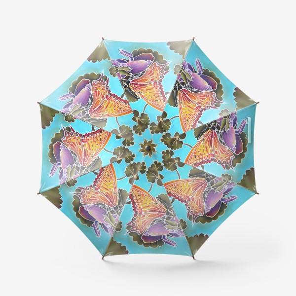 Зонт «Цикламен и бабочка »