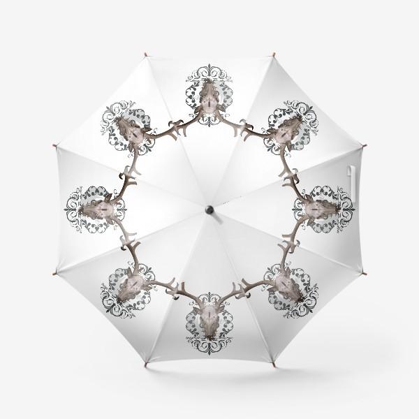 Зонт «Череп оленя »