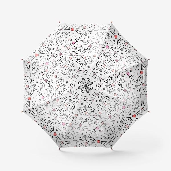 Зонт «Усы и сердечные носы»
