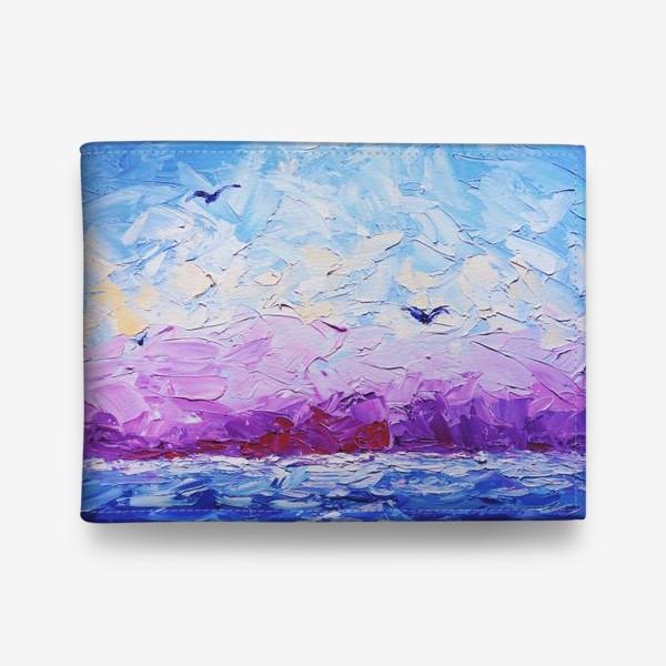 Кошелек «Рассвет на море. Картина маслом»