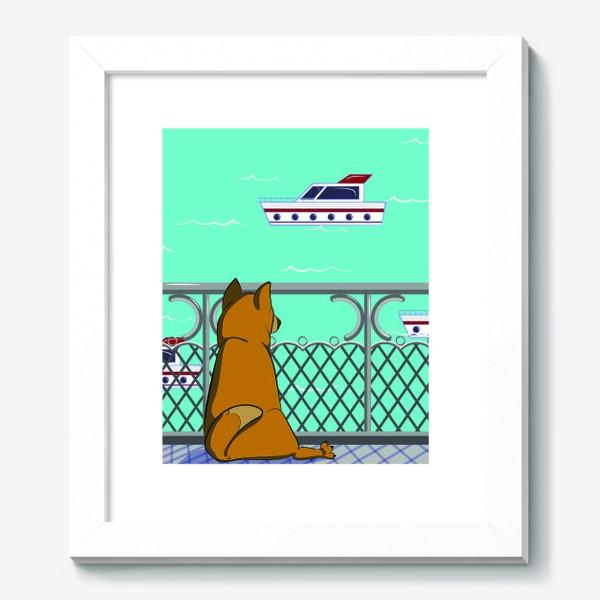 Картина «Собака и море»