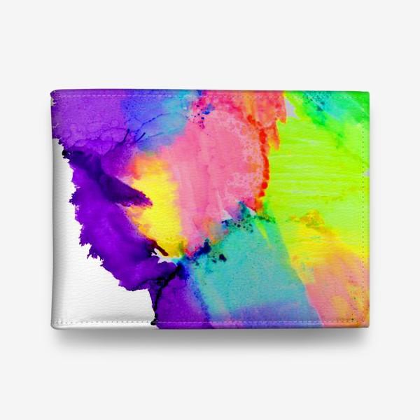 Кошелек «Watercolor Neon Abstract»