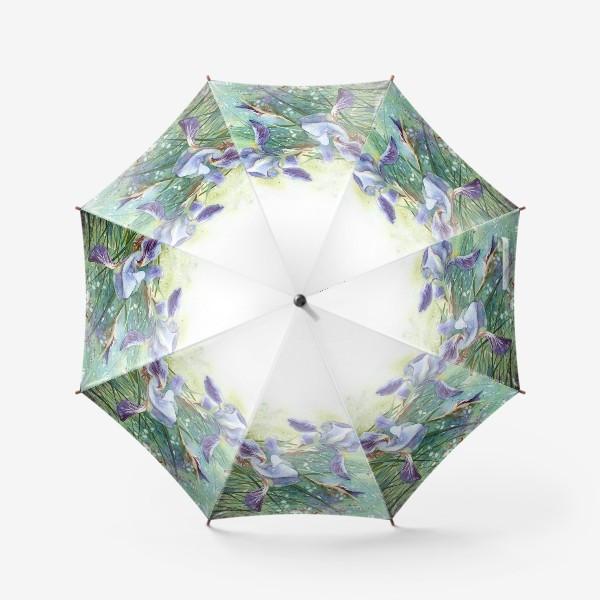 Зонт «Ирисы голубые»