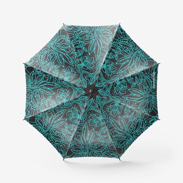 Зонт «Бирюзовая ботаника»
