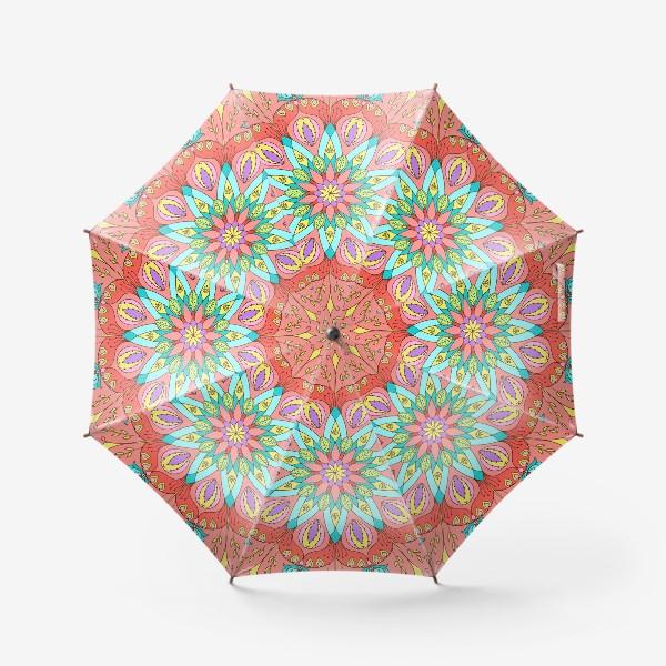 Зонт «Цветочная мандала»