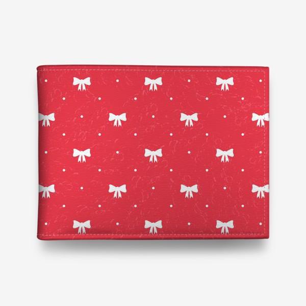 Кошелек «Красный рождественский паттерн с бантами»
