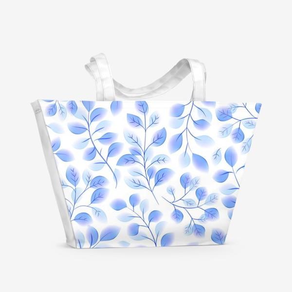 Пляжная сумка «Акварельные листья»