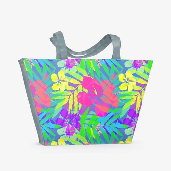 Пляжная сумка «Тропические цветы»