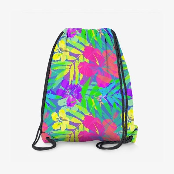Рюкзак «Тропические цветы»