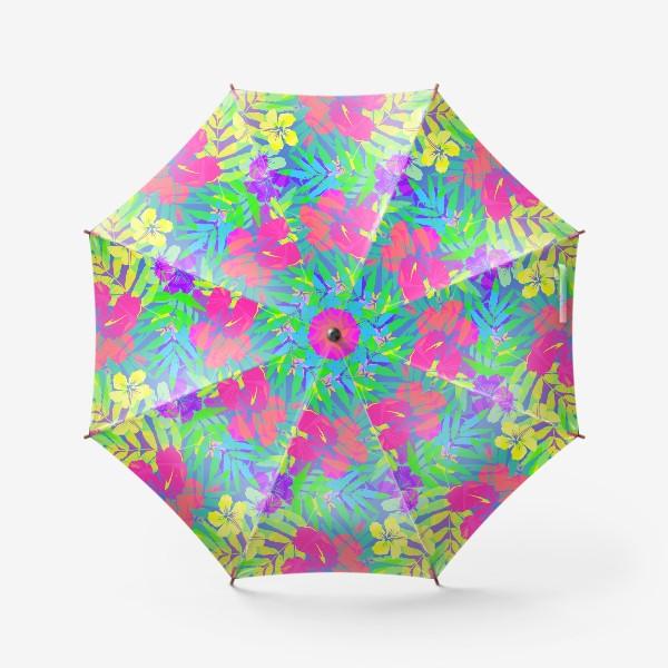 Зонт «Тропические цветы»