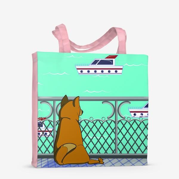 Сумка-шоппер «Собака и море»