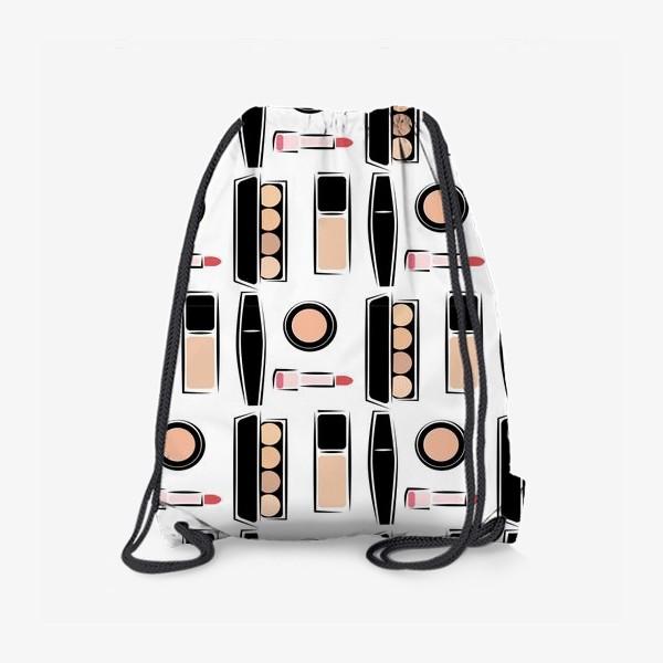 Рюкзак «Паттерн декоративной косметики nude»