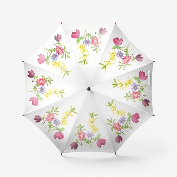 Зонт «Букет весенних цветов»