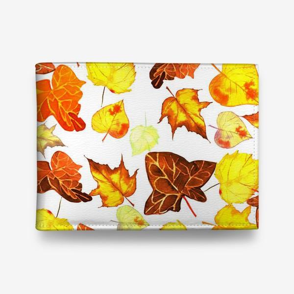 Кошелек «оранжевые осенние листья»