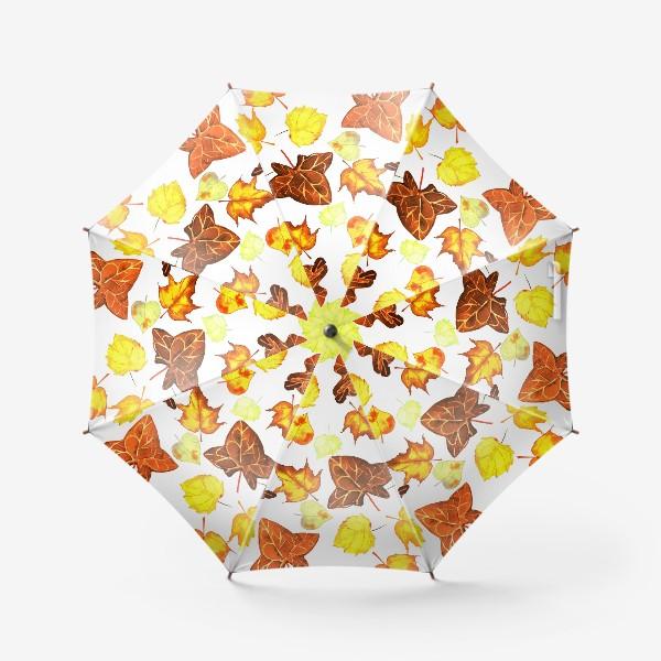 Зонт «оранжевые осенние листья»