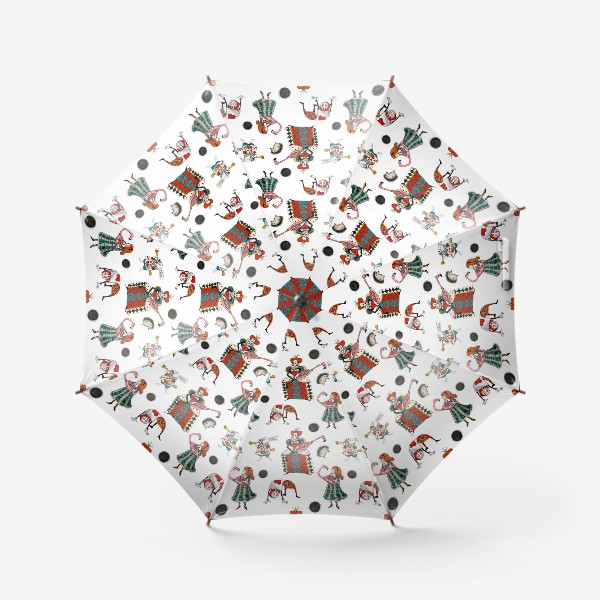 Зонт «Крокет. Белый фон»