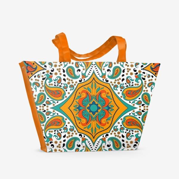 Пляжная сумка «Восточный орнамент пейсли»