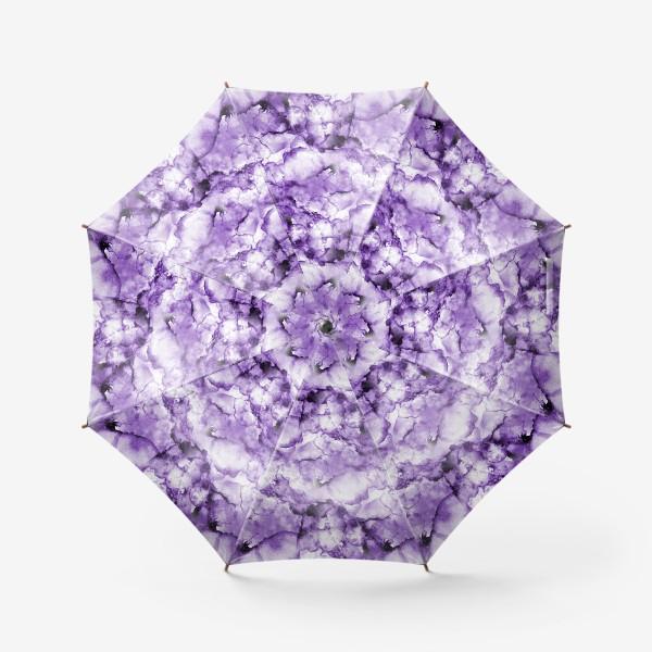 Зонт «Фиолетовое безумство (спиртовые чернила)»
