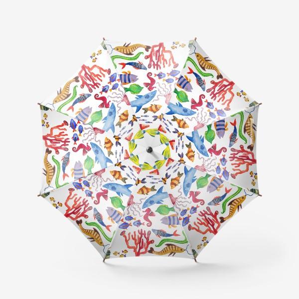 Зонт «Рыбы. Подводный мир»