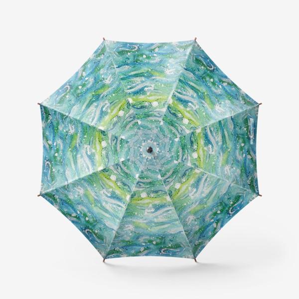 Зонт «Волны. Абстракция.»