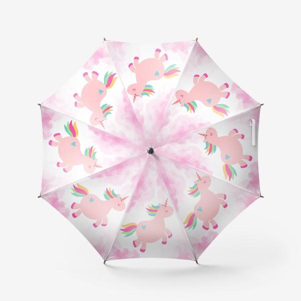 Зонт «Розовый единорог»