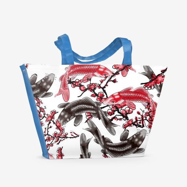 Пляжная сумка «Китайская живопись»