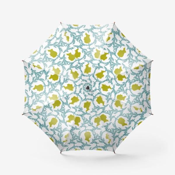 Зонт «Паттерн с виньетками»