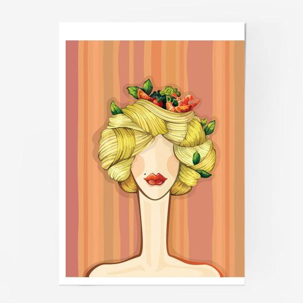 Постер «Итальянская красавица Паста»