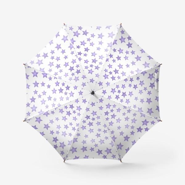 Зонт «Фиолетовые звезды»