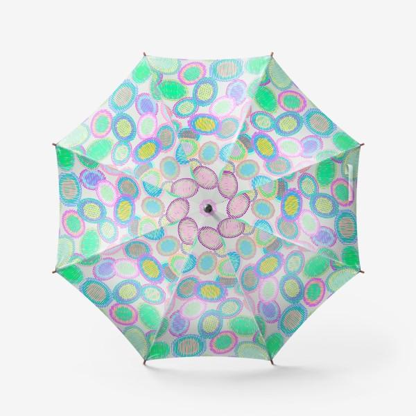 Зонт «Абстрактные полосатые овалы»