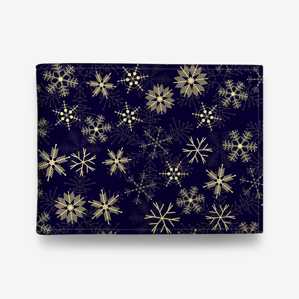 Кошелек «Снежинки на синем фоне»