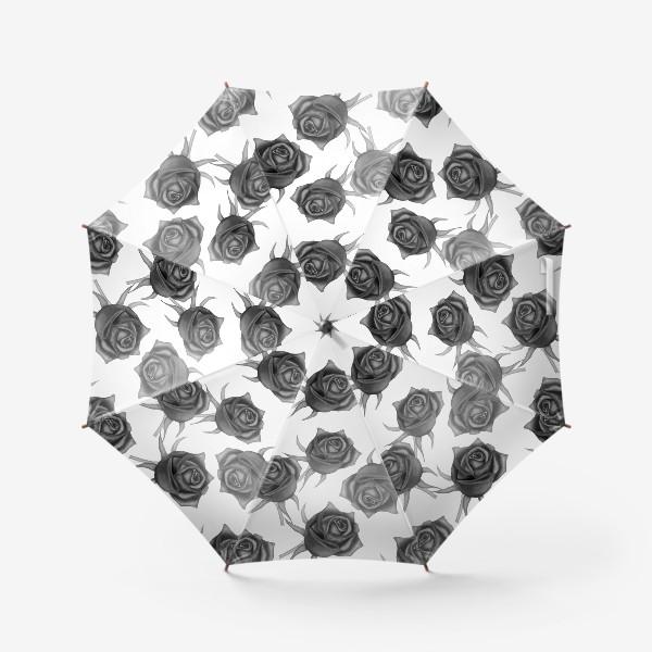 Зонт «Акварельные розы»