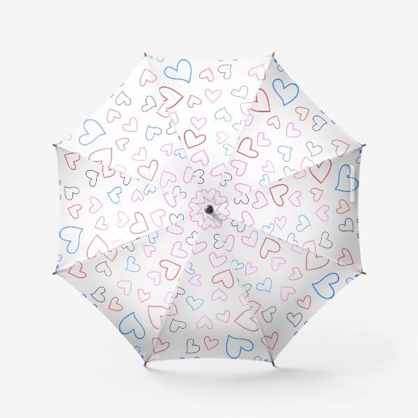 Зонт «Сердечки разноцветные»