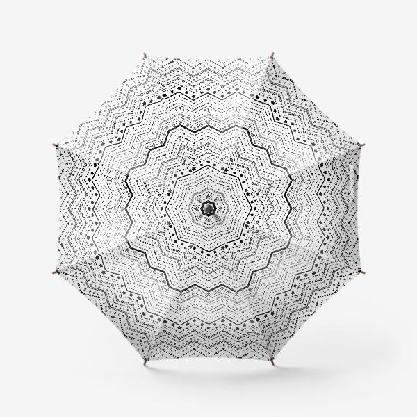 Зонт «Черные узоры на белом»