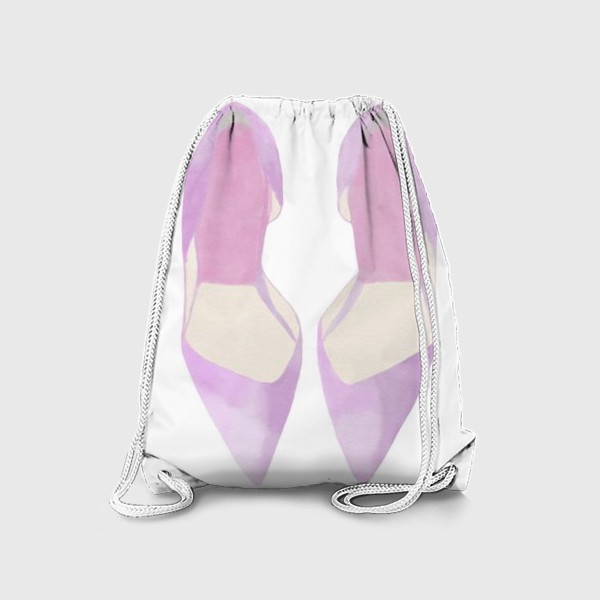 Рюкзак «Женские туфли лодочки акварель»