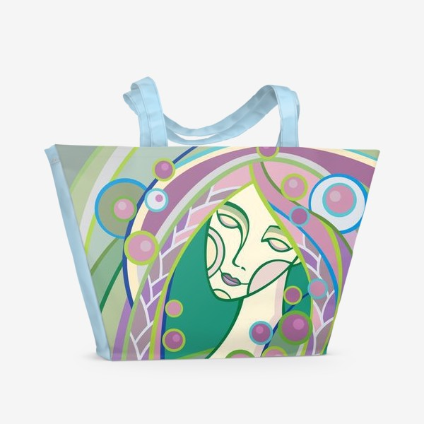Пляжная сумка «Весна. Девушка.»