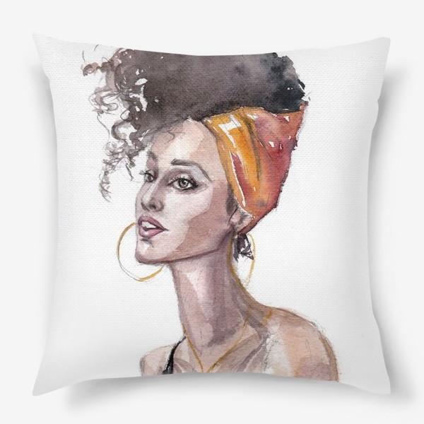 Подушка «Девушка мулатка»