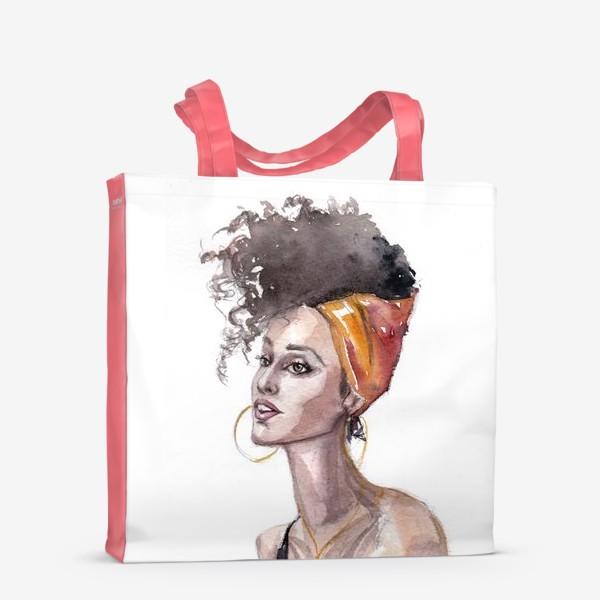Сумка-шоппер «Девушка мулатка»