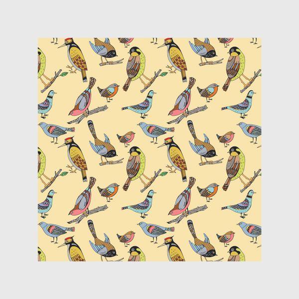 Скатерть «Птицы. Паттерн с птицами»