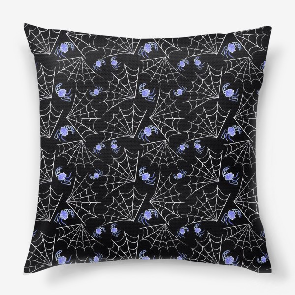 Подушка «паучки в паутине»