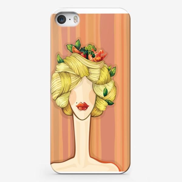 Чехол iPhone «Итальянская красавица Паста»