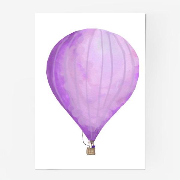 Постер «Воздушный шар рисованный акварелью»