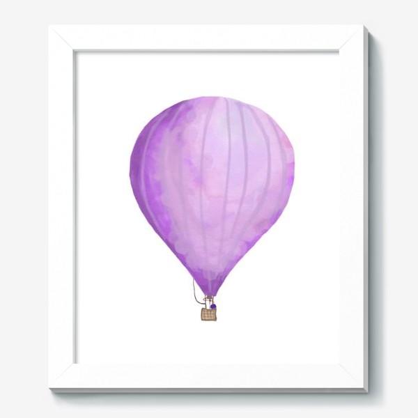 Картина «Воздушный шар рисованный акварелью»
